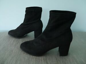 Newlook Soft Black Suedette Fashion Ankle Boots - size 6* RRP £27