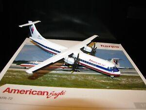 1/200 SCALE Herpa AMERICAN EAGLE ATR-72 HE551052