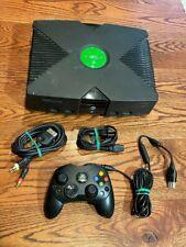 Xbox Microsoft Xbox Original Black Console (Power & Av Cords, Controller) Tested