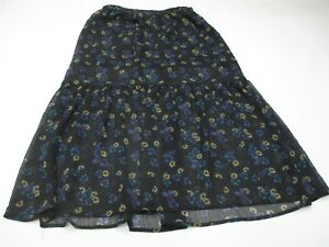 new XHILARATION Women' Size S A-Line Print Lined Black Skirt