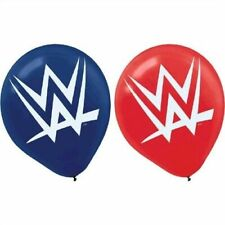 WWE Wrestling Latex Party Balloons 6 Ct