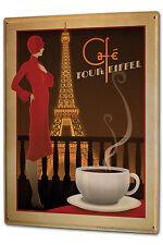 Tin Sign XXL World Tour Coffee Eifel Tower