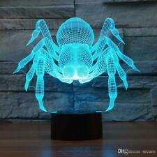 Spider 3D Optical Illusion Colour Changing LED Lamp New