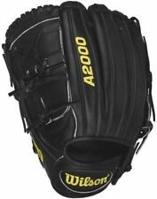 "New listing New Wilson A2000 WTA20LB15CK22GM  11.75"" Baseball Pitcher Glove Black LHT"