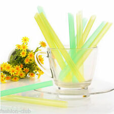 33Pcs New Jumbo Thick Drinking Straws Bubble Boba Pearl Tea Drink Straw Smoothie