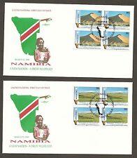 UN NY #588-589 Namibia (2) Artmaster B4FDCs