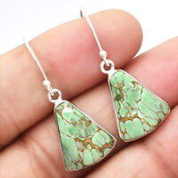 Natural Australian Variscite 925 Sterling Silver Earrings Jewelry 1842