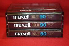 Audiokassetten ►Maxell XLII 90 NEW EPITAXIAL◄ Tapedeck Musik Cassetten 3 STÜCK!!