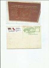 Confederate Memorial plaque Daytona Beach FL  postcard