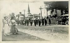 STREET PARADE IN WILLIAMSTOWN, VERMONT & ca 1927 REAL PHOTO POSTCARD BY F. PIRIE