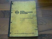 Opel alle PKW Modelle 1983 Inspektion Service Wartungsplan WERKSTATT HANDBUCH