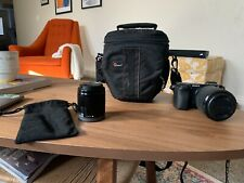 Sony Alpha A6300 24.2MP Mirrorless Digital Camera with two lenses