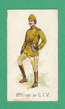 JAS BIGGS & SON'S - EXTREMELY RARE MILITARY CARD -  OFFICER  IN  C.I.V.  -  1901