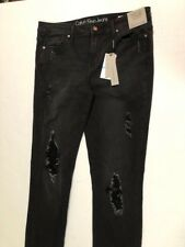 Women's NWT Calvin Klein Ripped Kent Wash Ultimate Skinny Jeans