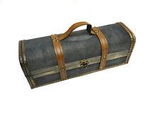 Truhe Holzbox Schmucktruhe Stoff bespannt kleiner Koffer Tasche Handkoffer Holz
