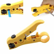 Cable Stripper Cutter Wire Stripping Tool for Flat or Round UTP Cat5 Cat6 Coax
