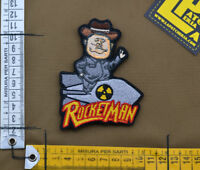 "Ricamata / Embroidered Patch ""RocketMan"" with VELCRO® brand hook"