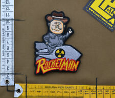 """Ricamata / Embroidered Patch """"RocketMan"""" with VELCRO® brand hook"""