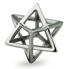 Merkaba Genuine Solid Sterling Silver Charm OHM Bead AAY011