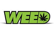 420 Weed Kush Cannabis Graphic Vinyl Marijuana Sticker Pot Decal GREEN 2 PACK