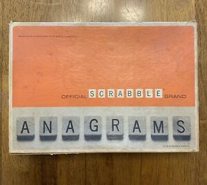 Vintage Official Scrabble Brand Anagrams Game by Selchow & Righter 1964 Selright
