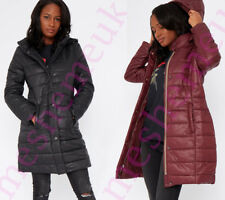 Womens Long Puffer Jacket with Detachable Hood Womens Jackets Size 8-16