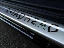 4 Battitacco batticalcagno per Nissan Qashqai+2  acciaio inox satinato/cromo