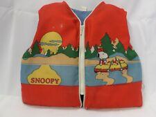 Vintage 1965 Snoopy Peanuts Youth Size 24-29 Life Vest Flotation Device