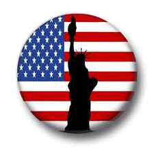 Statue of Liberty 1 Inch / 25mm Pin Button Badge USA United States America Flag
