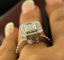 NATURAL DIAMOND ENGAGEMENT RING IN 14K WHITE GOLD 1.TCW  SZ 7