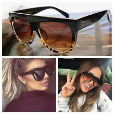 AYZA Fashion Leopard Sonnenbrille Damen Vintage Blogger Katzenauge Oversize