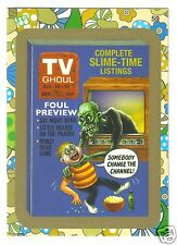 2008 Wacky Packages Flashback Series 2 TV Guide Ghoul #59 Gold Border Parallel