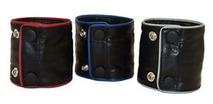 BRAND NEW 100% Real Leather Deluxe wrist wallet Piped Various colours/sizes