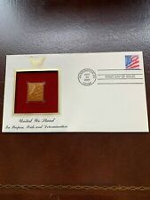 UNITED WE STAND FLAG STAMP 22k GOLD REPLICA OCT 24 2001 FDC 9/11/2001