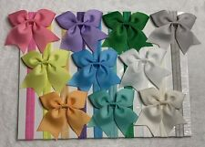 10 Pcs Kids Baby Toddler Girl Dovetail large Bows Headband Hair Band stretchy~