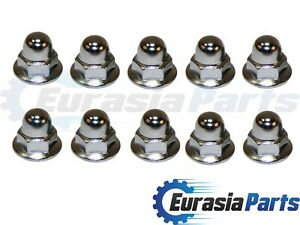 License Plate Mounting Nut Chrome Acorn Metric 6mm for Volvo 10 pack