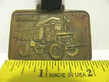 Euclid R50 Dump Truck & Scraper Tractor Two Sided Advertising Pocket Watch Fob