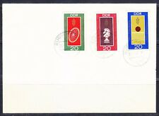 Germany DDR 1969 FDC cover Sc 1125-1127 Mi 1491-1493 Chess, Bicycle,Volleyball