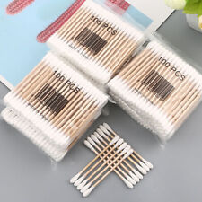 CG_ 100Pcs New Disposable Cotton Swab Applicator Q-tip Swabs Bamboo Handle Sturd