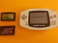 Nintendo Game Boy Advance Frost White Handheld system bundle w/ Scooby Doo games