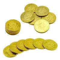 5PCS Magic Trick Mentalism Interlocked Coins United States of America 50 Cents.