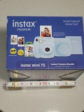 Blue Fujifilm Instax Mini 7S Instant Camera Bundle w/ Film, Case, Photo Holders
