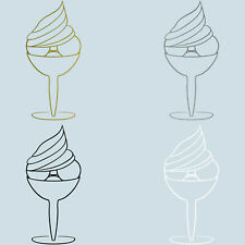 Bicchiere per Ghiaccio 20cm Adesivo Tatuaggio Caffè Finestra Negozio Vetro Auto