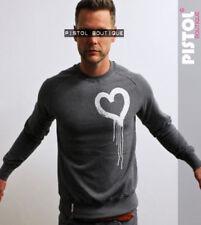 Camisetas de hombre de manga larga en gris con 100% algodón