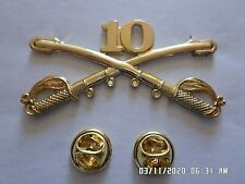 10th Cavalry Swords Sabers Military Hat Pin Regiment Badge Buffalo Soldiers