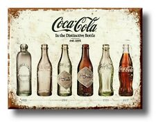 Coke Bottles Coca Cola Plaque Sign Retro style bar kitchen shed garage man cave