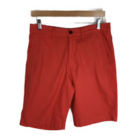 """J Crew Mens Shorts Club Short Flat Front Cotton Chinos Casual 11"""" Solid Size 31"""