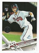 2017 Topps Series 1 Dansby Swanson Transcendent #1/1 RC 65th Rookie Braves SSP