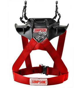 Simpson Hybrid Sport FHR System Hans Device FIA Approved - QR Adult Large RED