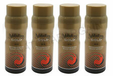 4 x ADDICTION GOLD DEODORISING BODY SPRAY FOR MEN 150ml